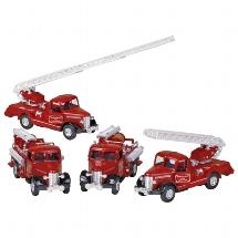 Classic fire engine, die-cast, L= 12 - 13,5 cm