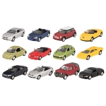 Vehicle assortment III, die-cast, scale 1:60, L= 7,5 cm
