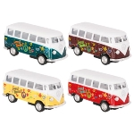 VW Classical Bus (1962) with prints, die-cast,1:64, L= 6,5cm