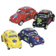 VW Classical Beetle (1967) with print,die-cast,1:64, L=6,5cm