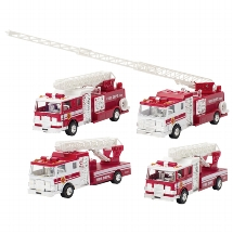 Fire engine with light and sound, die-cast, L= 17,5 cm