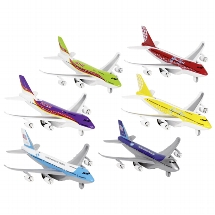 Airplane with light and sound, die-cast, L= 18,5 cm