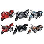 Motorcycles, die-cast, 1:18, L= 11-12cm