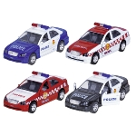 Police car and fire brigade with light and sound, die-cast