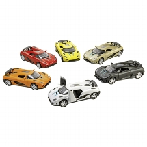 Roadster Momentum, light and sound, die-cast, L= 14 cm