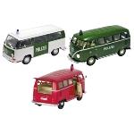 Volkswagen Bus T1 + T2, die-cast, 1:24, L = 16 cm