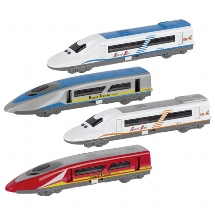 Speed train with light and sound, die-cast, L= 18,4 cm