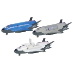 Space Shuttle with light and sound, die-cast, L= 18,5 cm