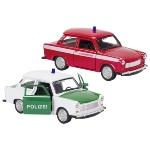 Trabant 601 police, fire brigade, die-cast