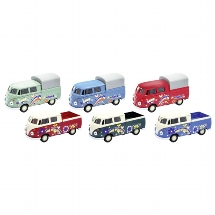 Volkswagen T1 Double cab Pick-up, die-cast, 1:34-39, L= 11,3