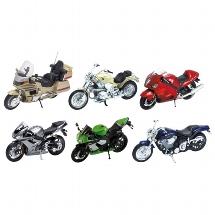 Motorcycles, die-cast, 1:18, L= 11-13 cm