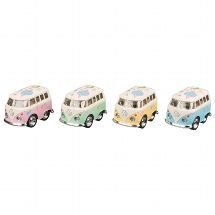 VW Classical Bus with print, die-cast, L= 5 cm