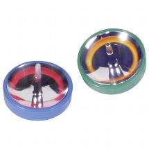 Flashing spinning top