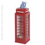 Saving box in telephone box design