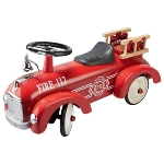 Ride-on vehicle fire brigade
