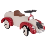 Ride-on vehicle beige / red