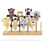 Fingerpuppet set, wild animals