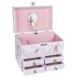 Music box, Ballerina VI with drawers