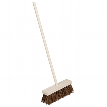 Broom for children with natural bassine bristles