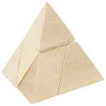 Pyramid with 3 sides, puzzle