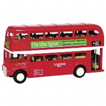 London Bus aus Spritzguss, L= 12 cm