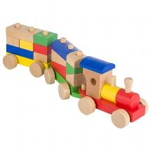 Rom, train with bricks