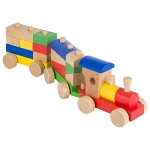 Rom, train with bricks