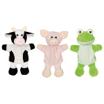 Hand puppets cow, pig, frog  (with legs)