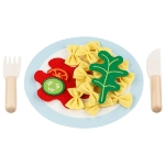 Pasta with plate and cutlery