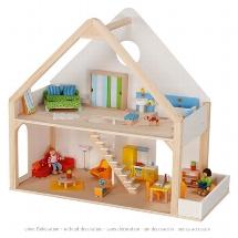 Maison de poupées 2 niveaux
