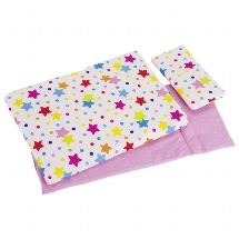 Bedding set for dolls, stars