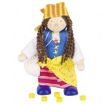 Flexible puppet female pirate