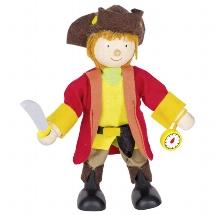 Flexible puppet pirate captain