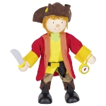 Flexible puppet pirate captain