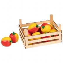 Apples in fruit crate