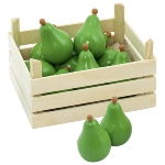 Pears in fruit crate