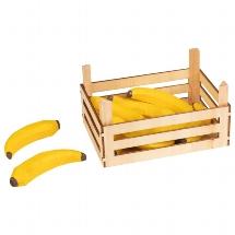 Bananas in fruit crate