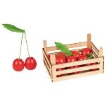 Cherries in fruit crate