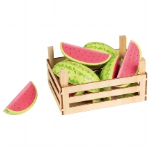 Melons in fruit crate