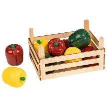 Peppers in vegetable crate