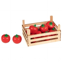 Tomatoes in vegetable crate