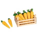 Carrots in vegetable crate