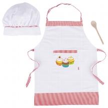 Cooking set, Apron size: B= 41 cm-, H= 55,7 cm