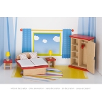 Furniture for flexible puppets, bedroom, goki basic.