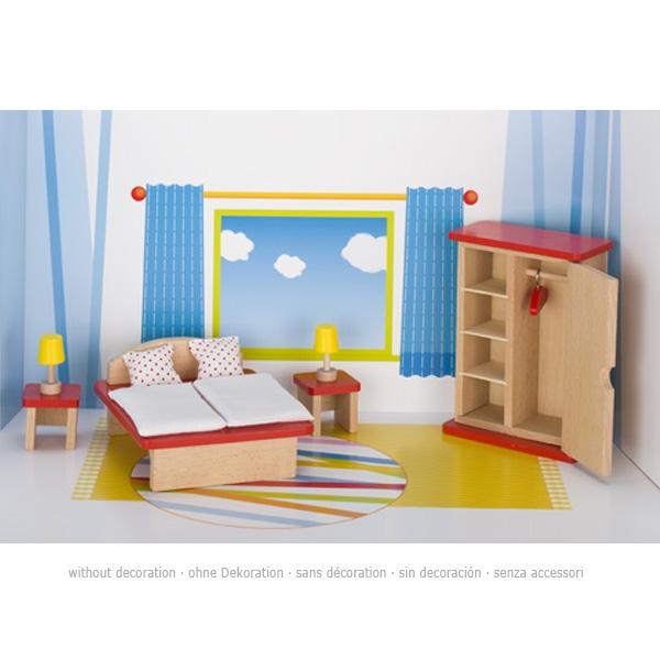 Mobili per bambole flessibili, camera da letto, goki basic ...