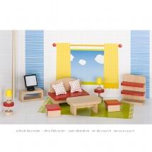 Furniture for flexible puppets, living room, goki basic.