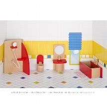 Furniture for flexible puppets, bathroom, goki basic.