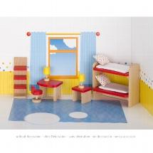 Furniture for flexible puppets, children's room, goki basic.