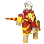 Flexible puppet knight Artus with horse