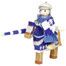 Flexible puppet knight Lancelod with horse